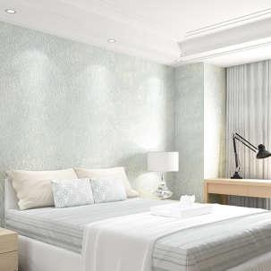 欣旺壁纸 蚕丝墙纸 高端定制环保手工贴丝 现代简约素色无纺布