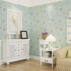 【B】欣旺进口无纺布墙纸 田园大花壁纸 卧室客厅电视背景墙温馨壁纸