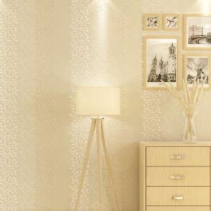 【B】欣旺 韩式壁纸 竖条纹碎花无纺布墙纸 温馨卧室客厅书房壁纸花语
