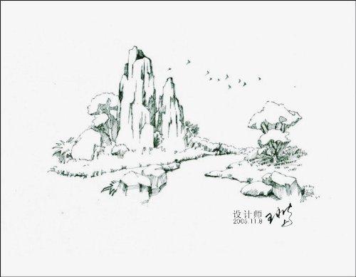 马克笔景观手绘步骤图