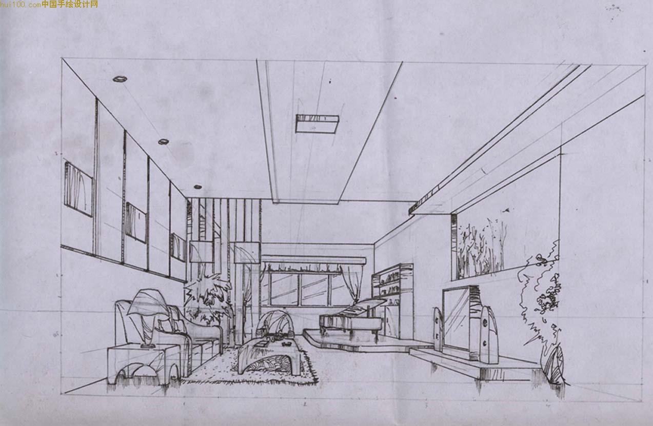 室内设计 透视图中一点透视画法,图片尺寸:1150×625,来自网页:http图片