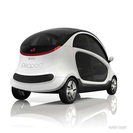 电动车将为环保汽车定义新标准 克莱斯勒peapod电力车设计 高清图片