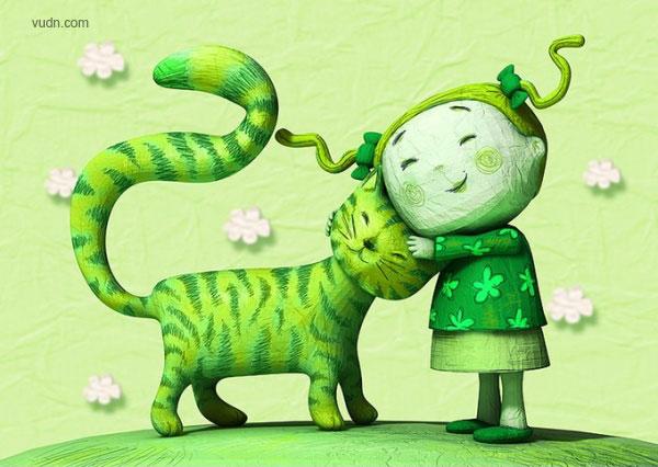 法国mattroussel儿童故事杂志cg插画作品